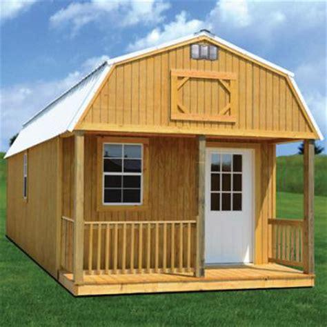 Lofted Barn Cabin Plans by Simpco Portable Buildings Derksen Lofted Barn Cabin