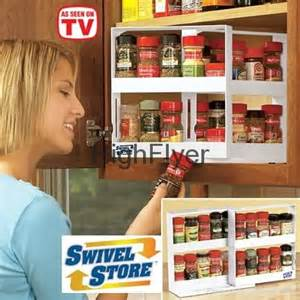 space saving spice racks swivel store space saving cabinet organizer as seen on tv