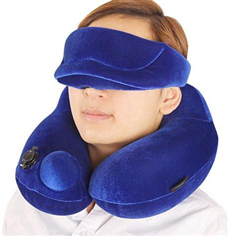 cuscini ergonomici ibama cuscino da viaggio gonfiabile con eye mask set