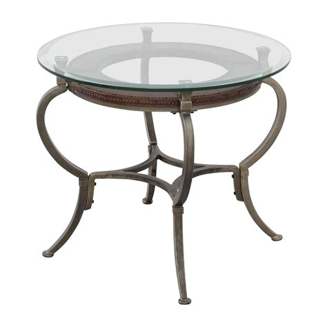 glass end table 90 macy s macy s artistica glass and metal