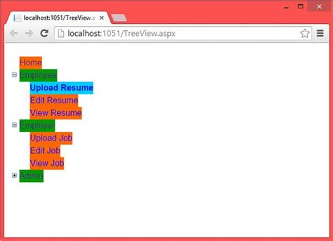 Target Home Design Inc treeview control in asp net