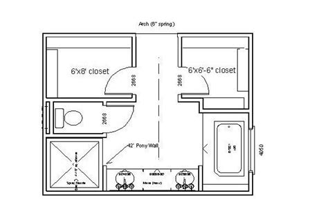 Bathroom Design Layouts by Master Bath Closet Floor Plans Woodworking Projects Plans