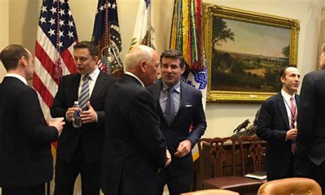 elon musk on trump elon musk seen at the white house on president trump s