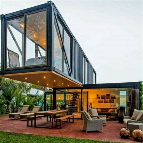 love finding innovative modern shipping container home