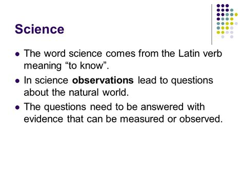 meaning of science ln 1 scientific methods ppt