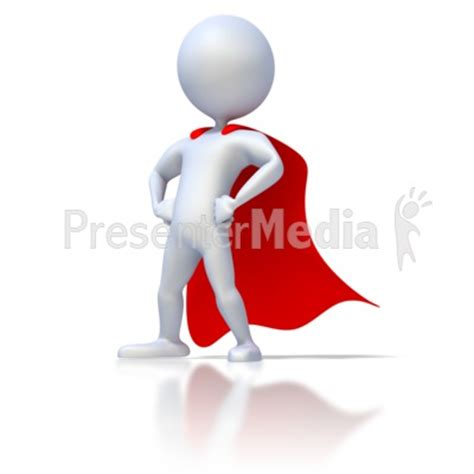 Stick Figure Superhero Home And Lifestyle Great Clipart For Presentations Www Presentation Media Free