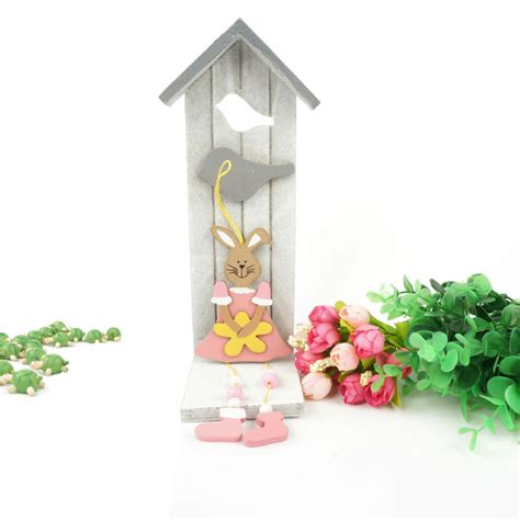 Easter Decorations On Sale by Aliexpress Buy Easter Decoration 6pcs Wood Pink