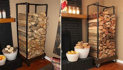 diy firewood rack pipe easy plumbing pipe firewood holder home design garden architecture magazine