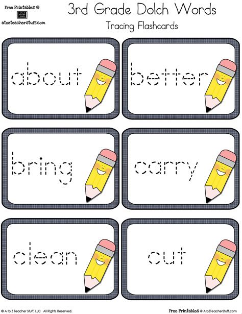 printable flash cards for first grade 1st grade sight words flash cards pertamini co