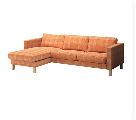 ikea orange sofa uk ikea karlstad 2 seat loveseat sofa and chaise slipcover