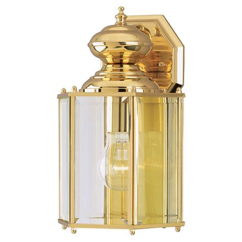 westinghouse 1 light polished brass on solid brass steel