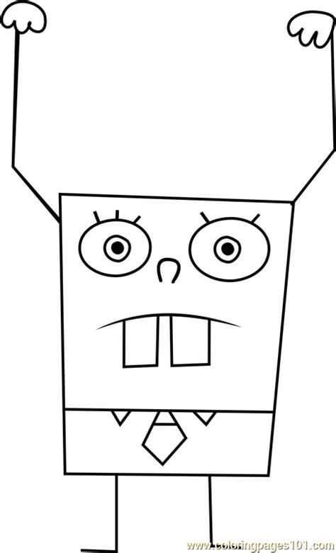 DoodleBob Coloring Page - Free SpongeBob SquarePants
