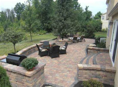 Patio Designs Ohio Baron Landscaping 187 Retaining Wall Pictures Cleveland