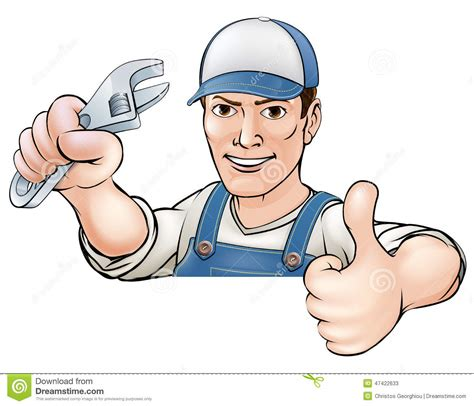 clipart idraulico il fumetto sfoglia sul meccanico o sull idraulico