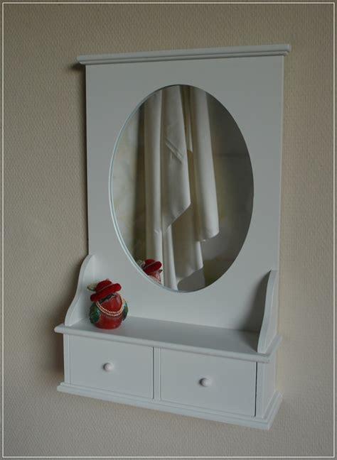 Ebay Home Interiors Ovaler Wandspiegel Wei 223 Spiegel Mit Ablage Landhaus Stil