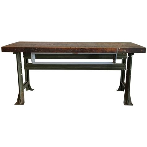 industrial work table american 1920s for sale at 1stdibs
