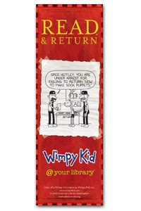 printable bookmarks of diary of a wimpy kid wimpy kid returns bookmark ala store