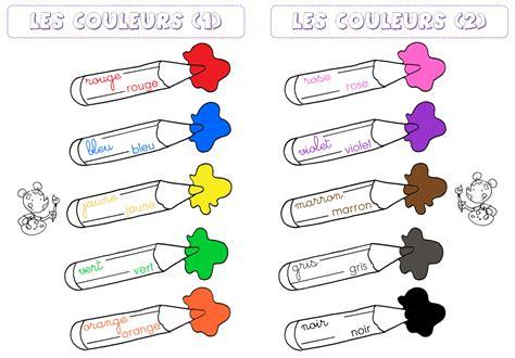 des colores vocabulario en primaire