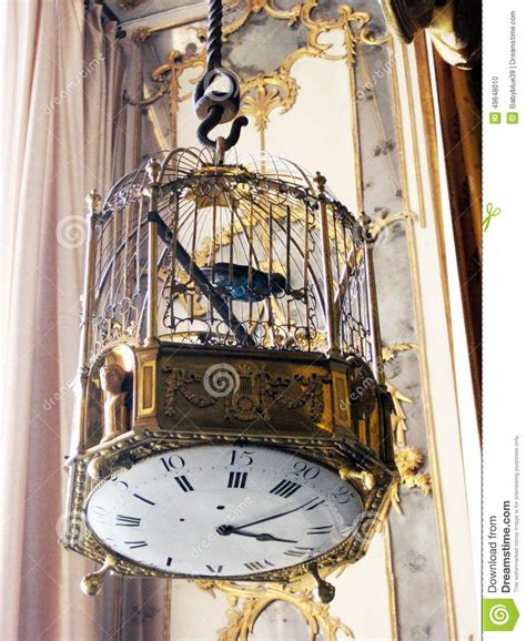della gabbia orologio della gabbia per uccelli fotografia stock