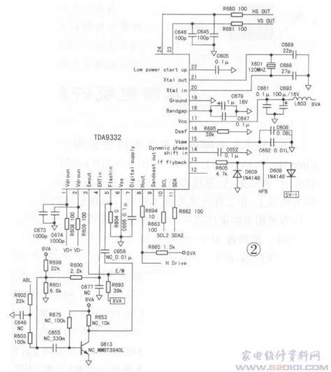 Ic Tda9111 高清电视行扫描电路工作特点及维修 行震荡电路