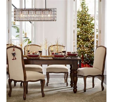 Rectangular Dining Room Chandelier Adeline Rectangular Chandelier Pottery Barn Wt Dining Room Pottery