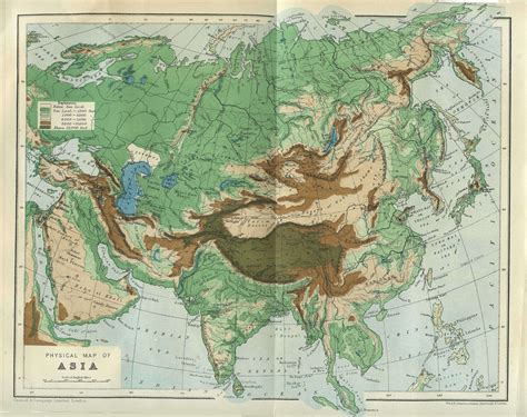 central asia physical map asiaphysical