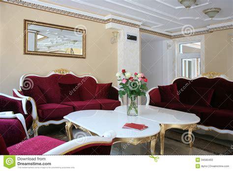 baroque style hotel interior stock image image 34580493