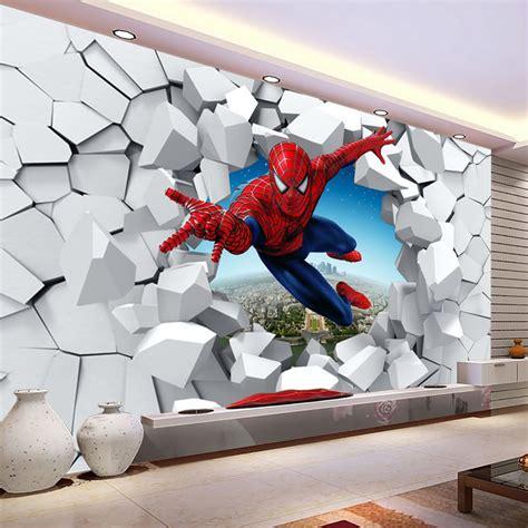 spiderman wallpaper for bedroom popular spiderman wall mural buy cheap spiderman wall