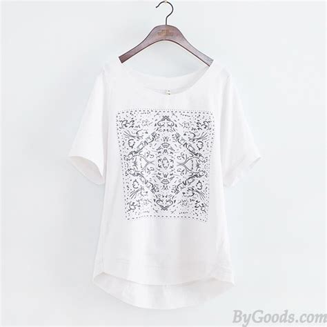 linen t shirt pattern causal fresh solid geometric pattern loose short sleeve