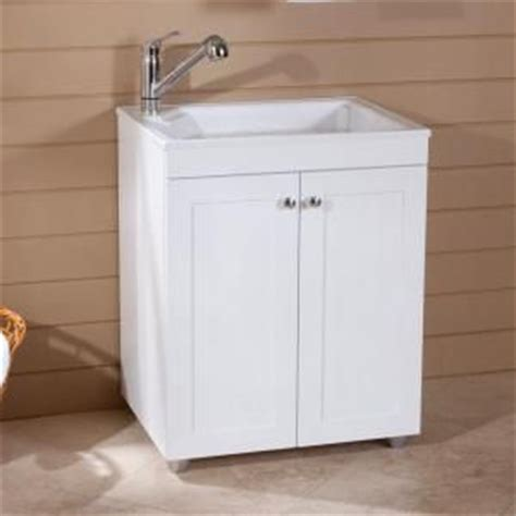 Glacier Bay 27 5 In W X 21 8 In D Composite Laundry Sink Laundry Room Sink Base Cabinet