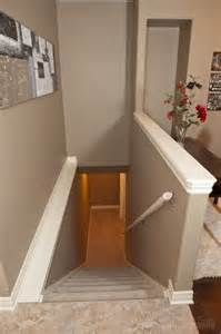 replace banister with half wall capped half wall home basement stairs