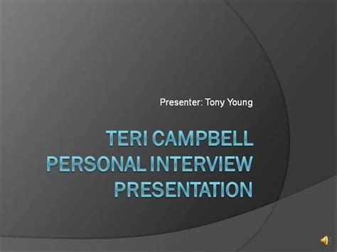 powerpoint presentation templates for interview tony young personal interview authorstream
