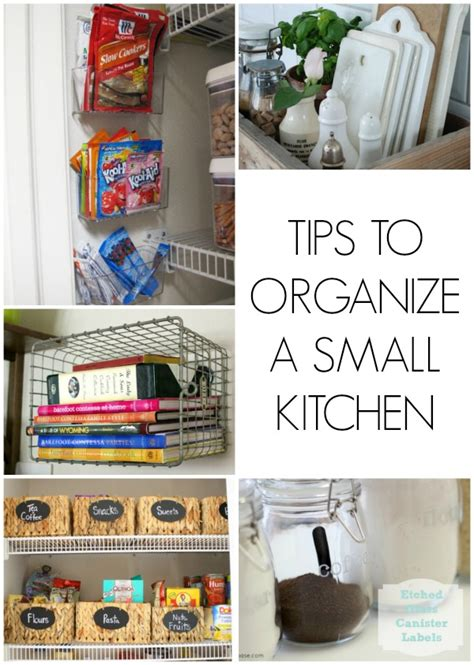 to organize tips to organize a small kitchen