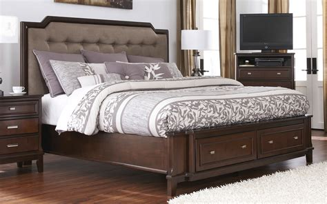 Bedroom Furniture King Size Larimer King Size Storage Bed By Signature Design