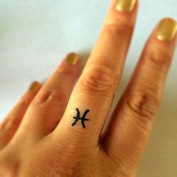 aquarius tattoo on finger pisces temporary tattoo fake tattoos from junylie