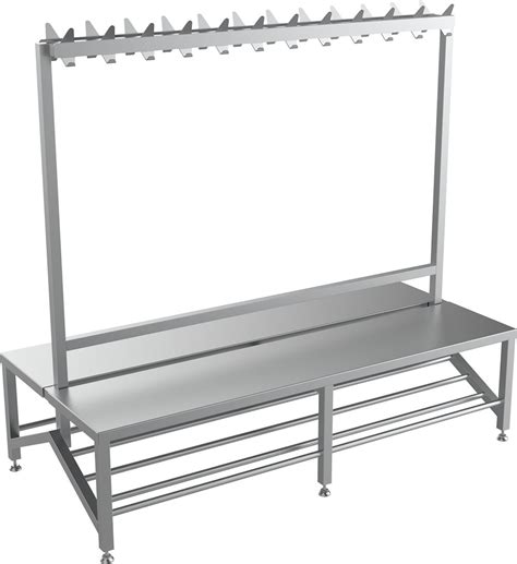 changing room benches with hooks double sided changing room bench with coat hook rail uk