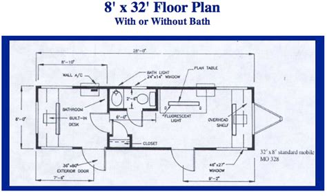 Mobile Field Office 8 X 32 Teg Lease Mobile Storage Floor Plans For A 12 X 32 House