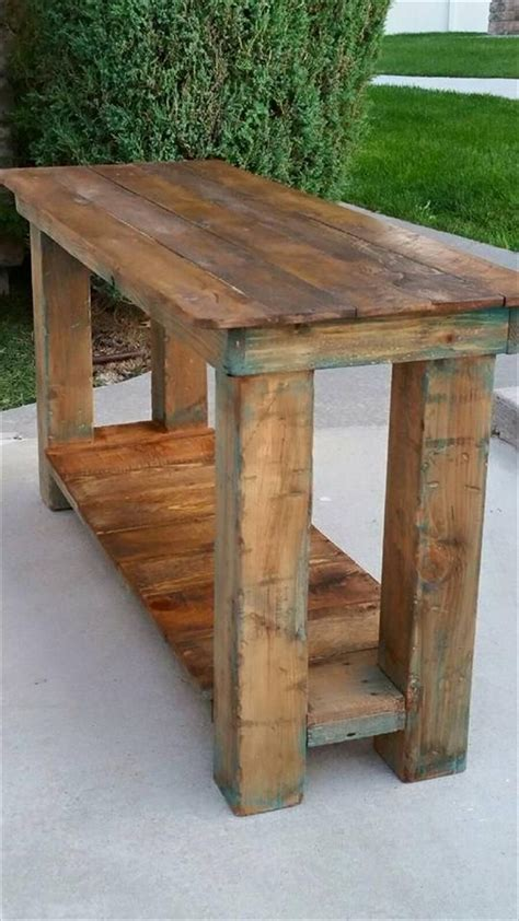 pallet console table  table sofa table  images