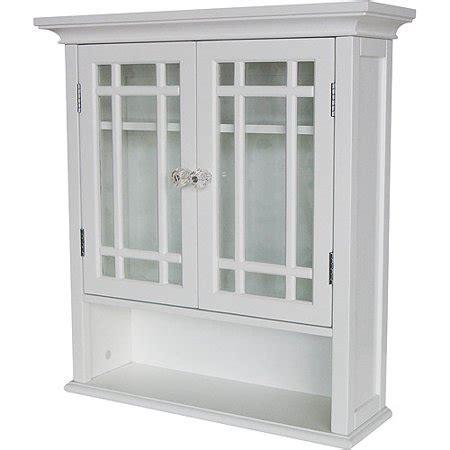 heritage wall cabinet  doors  shelf white