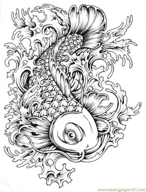 printable coloring pages for adults fish japanese coloring pages printable coloring page