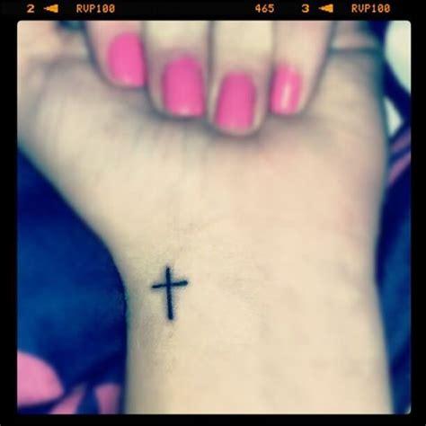 small cross tattoos wrist left wrist small cross