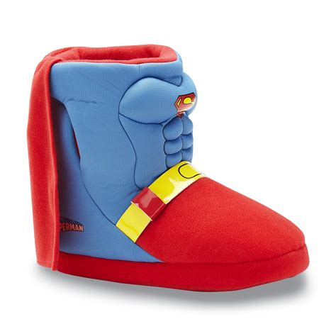 superman house shoes marvel superman boy s blue yellow red slipper boot