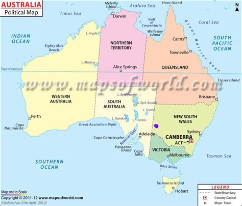 australia map with country names and capitals fox american aussie