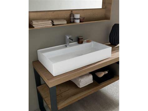 mobile bagno a terra mobile a terra per bagno con lavandino ad appoggio nuovo
