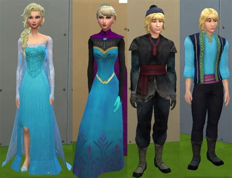 Sims 4 Elsa, Anna and Kristoff