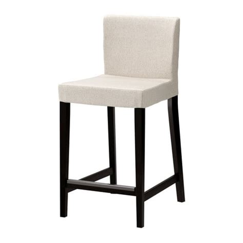 black and white bar stool cover henriksdal bar stool with backrest 26x19 quot ikea