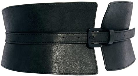 black leather waist belt asos wide waist cincher buckle