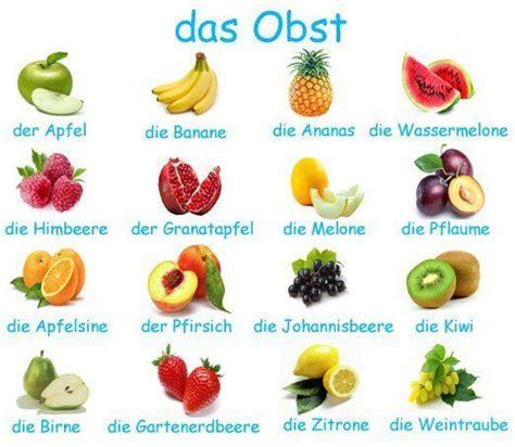 fruit in german vokabel bilder das obst fruits wortschatz deutsche
