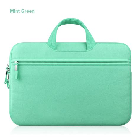 Tas Laptop 3 In 1 Plus Cover Bag mint green laptop sleeve carry bag cover pouch for 11 quot 13 quot 15 quot macbook air pro retina bag20