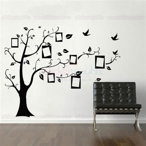 photo wall stickers black memory tree photo frame wall decal sticker large